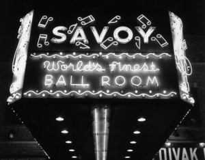 The Marquee of the Savoy Ballroom in Harlem