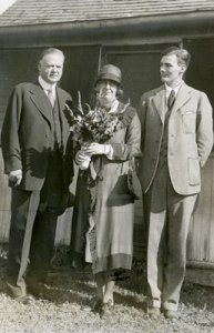 ca August 1928, Herbert, Lou and Allan Hoover in West Branch, Iowa.